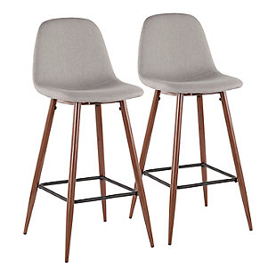Trevi Barstool (Set of 2), Yellow/Gray/Black, large