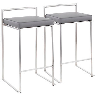 Fuji Stackable Counter Stool (Set of 2), , large