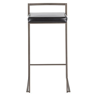 Fuji Industrial Stackable Barstool (Set of 2), , large