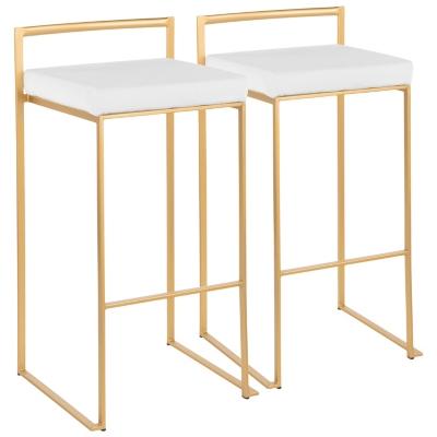 Fuji Stackable Barstool Set Of 2 Ashley Furniture Homestore