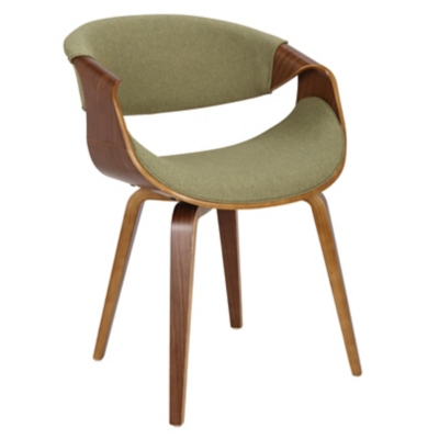 Curvo Dining/Accent Chair, Yellow/Green, large