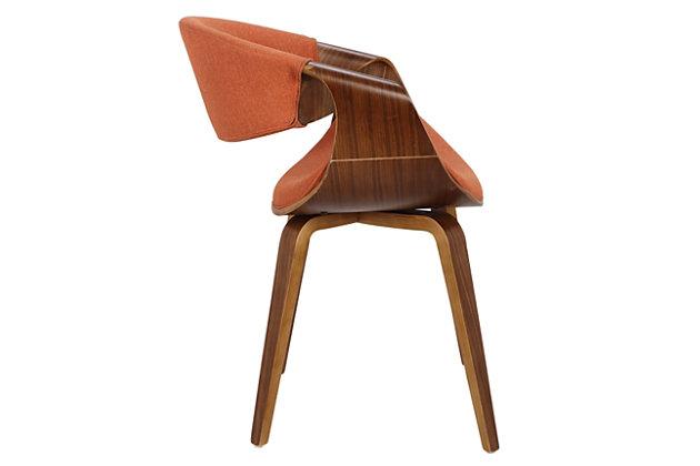 Curvo Dining/Accent Chair, Orange/Yellow, large