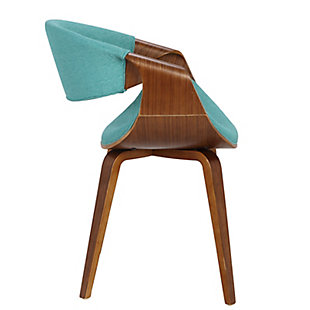 Curvo Dining/Accent Chair, Blue, rollover