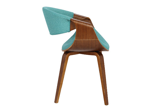 Curvo Dining/Accent Chair, Blue, large