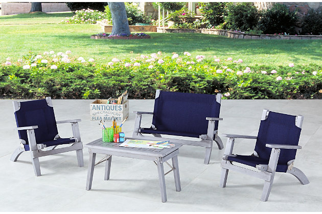 Linon Brooklyn Kids Outdoor Four Piece (Set of 4)