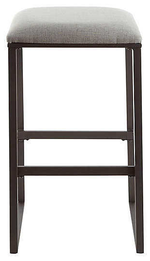 Cabo Square Backless Bar Stool, Gray, large