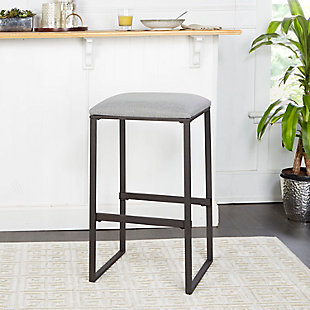 Cabo Square Backless Bar Stool, Gray, rollover