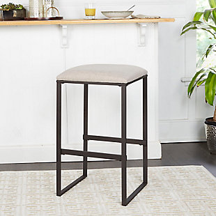 "Cabo 29"" Square Backless Bar Stool, Tan, rollover"