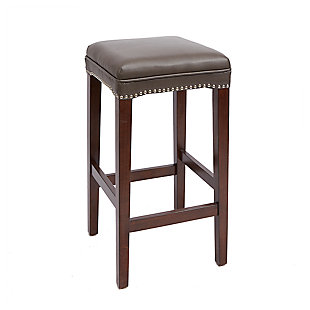 "Emilion 29"" Upholstered Wooden Saddle Stool, , large"