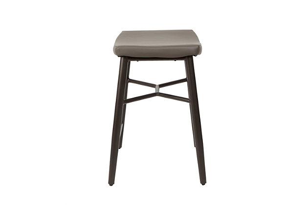 """Harvey 24"""" Saddle Upholstered Stationary Backless Barstool, , large"""