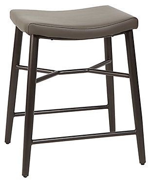 "Harvey 24"" Saddle Upholstered Stationary Backless Barstool, , large"