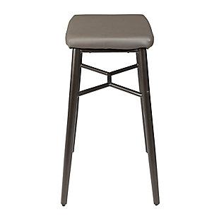 """Harvey 29"""" Saddle Upholstered Stationary Backless Barstool, , large"""