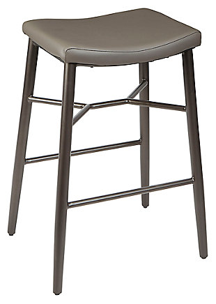 "Harvey 29"" Saddle Upholstered Stationary Backless Barstool, , large"