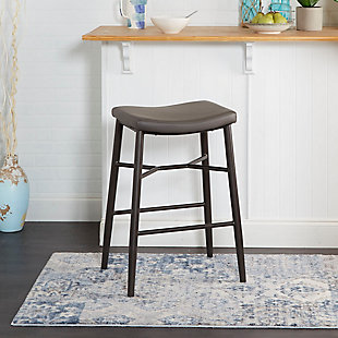"Harvey 29"" Saddle Upholstered Stationary Backless Barstool, , rollover"