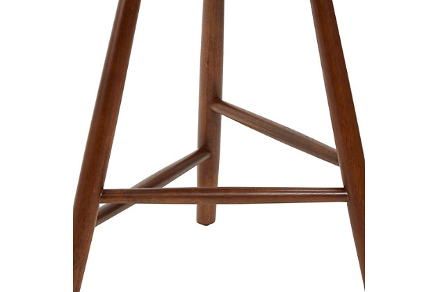 Howie Backless Mid-Century Wood Barstool, , large