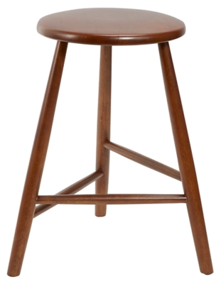 Howie Backless Mid-Century Wood Counter Stool, , large