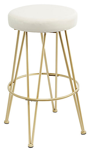 Mirage Metal Upholstered Backless Bar Stool, , large