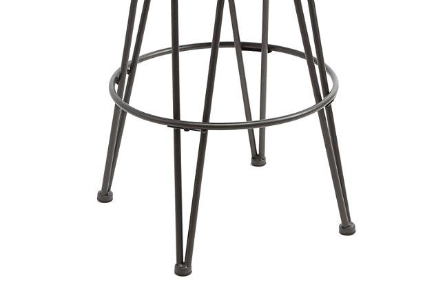 Mirage Metal Upholstered Backless Bar Stool, , large