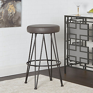 Mirage Metal Upholstered Backless Bar Stool, , rollover