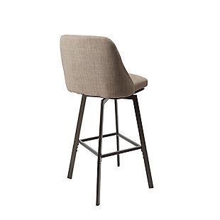 Posano Adjustable Height Curved Back Upholstered Barstool, , large