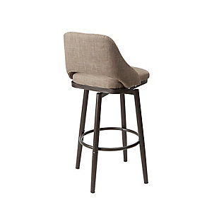 Santi Adjustable Height Upholstered Barstool, , large