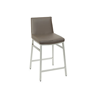 "Luna 24"" Upholstered Square Back Metal Barstool, , large"