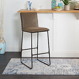 """Stout 29"""" Exposed Frame Square Back Barstool, , rollover"""