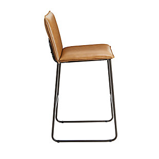 "Stout 29"" Exposed Frame Square Back Barstool, Cognac, large"