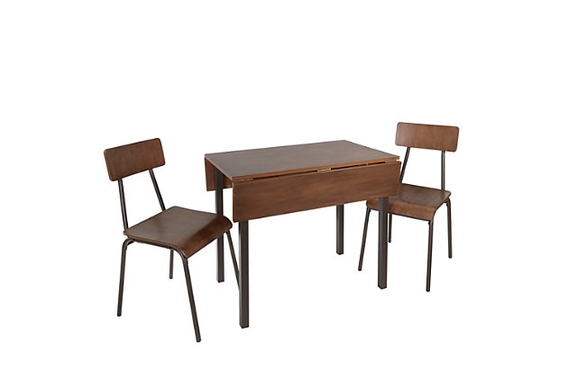 Tabitha 3-Piece Industrial Dining Set, , large