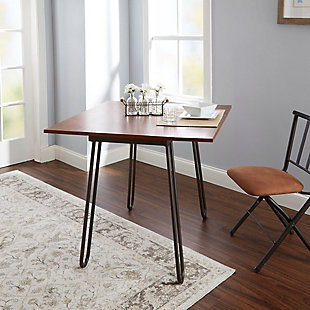Toriano Drop Leaf Table with Hairpin Legs, , rollover