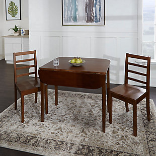 Velli 3-Piece Drop Leaf Dining Set with Ladderback Chairs, , rollover