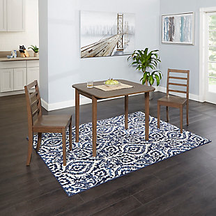 Velli 3-Piece Drop Leaf Dining Set with Ladderback Chairs, , large