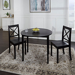 Warren 3-Piece Drop Leaf Dining Set with X-Back Chairs, , rollover