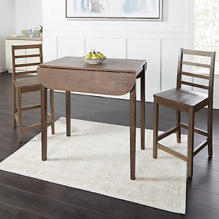 Velli 3-Piece Drop Leaf Pub Dining Set, , large