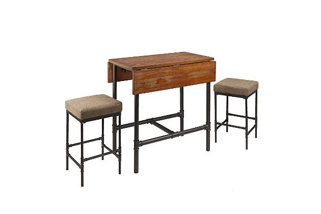 Austin Pipe Fitting Pub Height 3-Piece Dining Set, , large