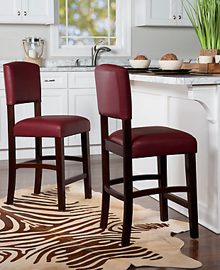 Carrie Monaco Counter Stool, Red, rollover
