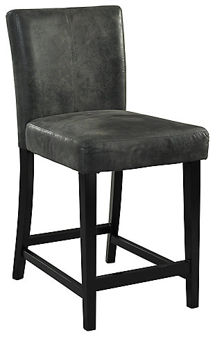 Carmella Morocco Counter Stool, Gray, large