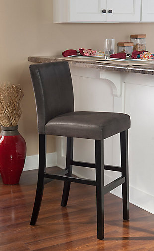 Carmella Morocco Bar Stool, Gray, large
