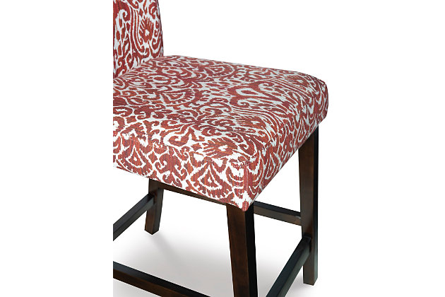 Carmella Morocco Counter Stool, Red, large