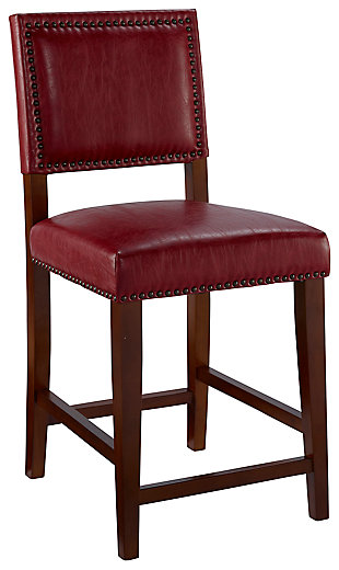 Robbin Brook Red Counter Stool, , large