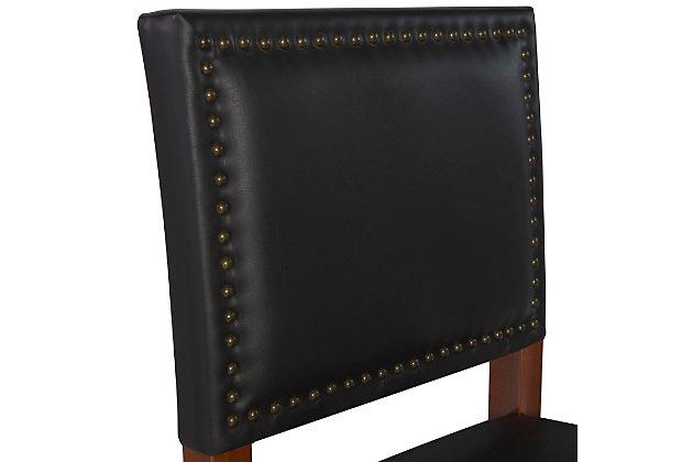 Robbin Brook Bar Stool Black, Black, large