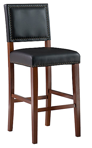 Robbin Brook Bar Stool Black, Black, large