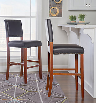 Robbin Brook Bar Stool Black, Black, rollover