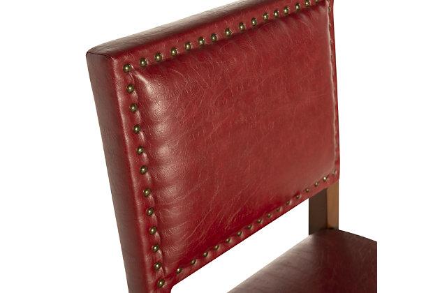 Robbin Brook Red Bar Stool, Red, large