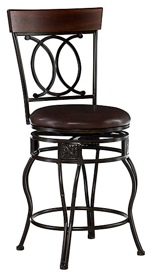 Fortunato O & X Back Counter Stool, , large
