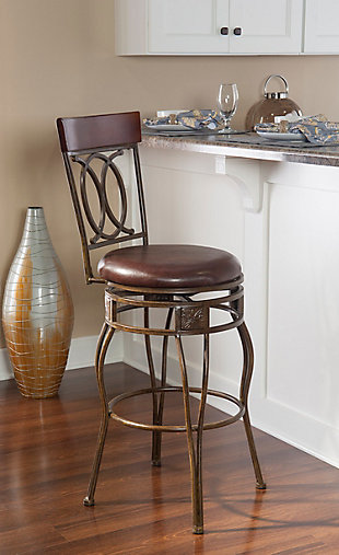 Fortunato O & X Back Counter Stool, , rollover