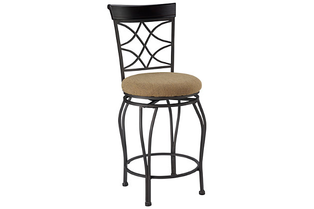 Lombardi Curves Counter Bar Stool, , large