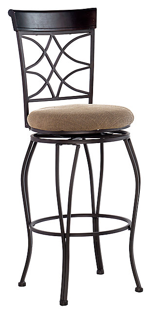 Lombardi Curves Back Bar Stool, , large
