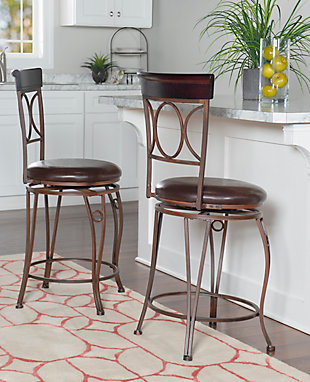 Louis Circles Back Counter Stool, , rollover