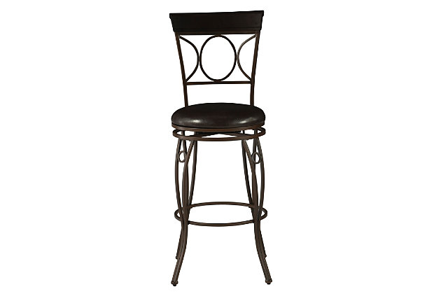 Louis Circles Back Bar Stool, , large